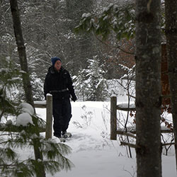 Snowshoeing at Marguerite Gahagan Nature Preserve